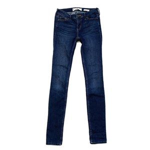 Hollister Size 0L Low Rise Super Skinny Jeans Dark